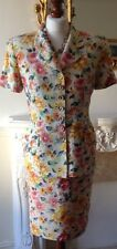 Authentic CHRISTIAN DIOR Vintage Floral Dress Suit Jacket Skirt FR36 UK8
