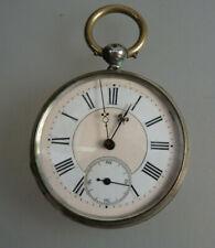 Herrentaschenuhr voll verziertes Uhrwerk Silber um 1890 (60292)