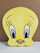Vintage Tweety Bird Ceramic Wall Hanging, Warner Brothers Trivet Hot Plate 1995