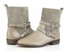NEW COACH LILIANA NEW YORK Beige LEATHER/ SUEDE WOMEN'S ZIPPER BOOTS US 8 B $248