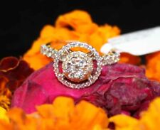 1.38CT NATURAL ROUND DIAMOND 18K SOLID YELLOW GOLD RING SIZE 7 IGI CERTIFIED
