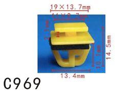 10Pcs Fit Hyundai 87758-35000 Rocker Moulding Clip With Sealer 14x19x10mm