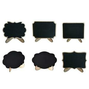 Classic Tabletop Mini Chalkboard Sign Six Different Vintage Designs for Wedding