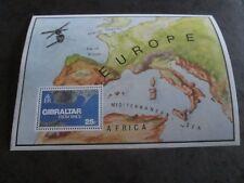 GIBRALTAR 1978 SG 399 Gibraltar from Space mini sheet mnh
