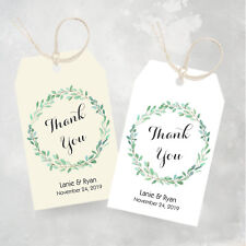 25 Favor Tags - Wedding Thank You Tags, Personalized Tags