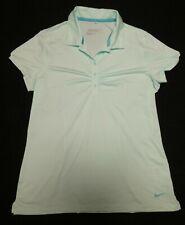 Nike Golf Dri-Fit women's mint green striped print short-sleeved golf shirt Sz L