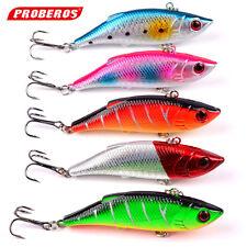 5pcs Lot VIB Plastic Fishing Lures Treble Hook Bass CrankBaits Tackle 8cm/9.7g