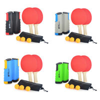 Kits Extendable Table Tennis Net 2 Table Tennis Rackets Ping Pong Paddle Set