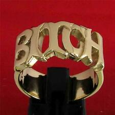 THE WORD BITCH INITIAL RING - 3 MICRON 18K GOLD PLATING