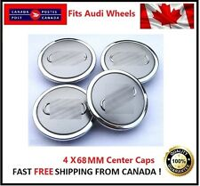 Fits Audi Wheels CENTER WHEELS RIMS HUBS CAPS 68MM 69MM  Silver Chrome Circle