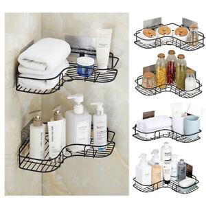 Shower Caddy Shelf Triangular Corner Bath Storage Organizer Holder Wall Racks