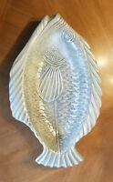 Vntg Creek Turn Pottery Fish Shape Platter/Bowl Beautiful Glaze Exlnt Condition!