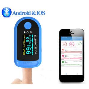 bluetooth Fingertip Pulse Oximeter Oxygen Blood Monitor SpO2 PR Saturation Meter