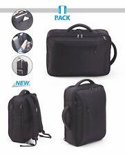 Zaino borsa nero porta documenti laptop viaggio bagaglio mano lavoro ufficio