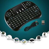 2.4G Black Wireless Rechargeable Air Mouse Mini QWERTY Keyboard