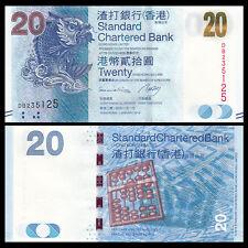 HongKong Hong Kong 20 Dollars, SCB, 2014, P-297 UNC