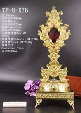 Brass Reliquary for Relic Beautiful with Tabor Pedestal TP-8-X76