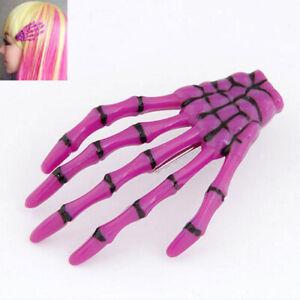 Hand Bone Hair Clip Ghost Skeleton Claw Fluorescent Side Clip Creative Hairwear