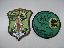 2014 & 2015 MICHIGAN SUCCESSFUL DNR DEER HUNTING PATCHES - BEAR - TURKEY -