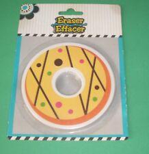 """Large Round Circle Donut Polka Dot Eraser 4"""" Orange Yellow"""