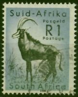 South Africa 1961 1R Black & Cobalt SG197 Fine Used