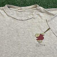 San Diego Padres T Shirt Mens S M Adult Gray Vintage 90s MLB Baseball Retro USA