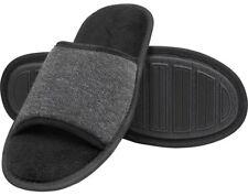 Gold Toe Men's Open- Toe Slipper (Black-Large size 10-11)