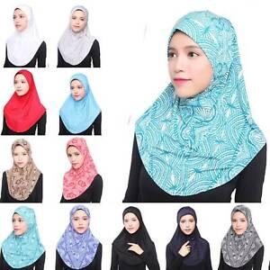 Damen Muslim Islamische Schultertuch Weich Kopftuch Hijab Schal Kopfbedeckung