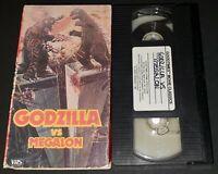 Godzilla Vs Megalon VHS Goodtimes Home Video Godzilla Jet Jaguar English Dubbed