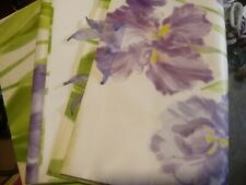 "Lot Of 3 Large Floral Purple Flower Hallmark Gift Bags Approx. 20"" x 17"" x 9"""