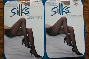 2  Silks Essentials Control Top Pantyhose size A NIP