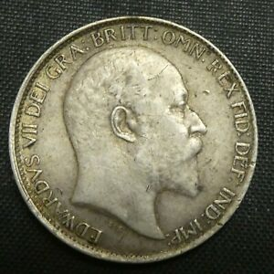 1903 Great Britain 6 Pence Sixpence Silver Coin VICTORIA KM# 799