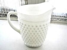 Vintage, Large 8in x 8.5in Milk Glass Pitcher