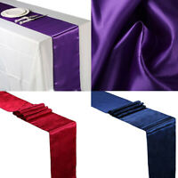 CW_ KF_ 12x108 inch Satin Table Runner Wedding Venue Decor Wedding Party 21 Colo