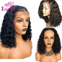 Short Curly Lace Front Human Hair Wig Pre Plucked Full Lace Wigs For Black Women
