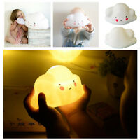 Cute Smiley Cloud Night LED Light Table Lamp Kid Room Nursery Decor Baby Gifts