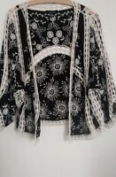 """NEW LOOK OPEN FRONT CROCHET CARDIGAN SIZE S,PIT TO PIT APPROX 20"""""""