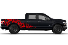Vinyl Decal Wrap Kit TIRE TRACKS for Ford F-150 2015-2017 RED SuperCrew 6.5 Bed