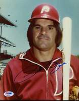 PETE ROSE PHILLIES PSA/DNA SIGNED CERTIFIED 8X10 PHOTO AUTHENTIC AUTOGRAPH