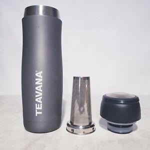 Teavana Tea Infuser Grey Metal Travel Tumbler