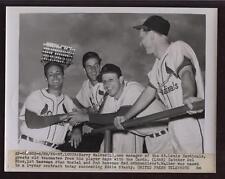 Original 1955 Stan Musial Schoendiest Walker Wire Photo