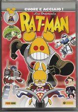 DVD RATMAN CARTOON COMIC LEO ORTOLANI-RAT MAN CUORE E ACCIAIO,PARODIA JEEG ROBOT