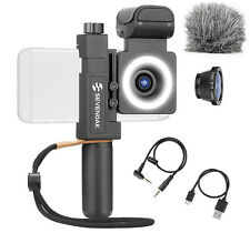 SmartCine - Universal Smartphone Video Rig with Microphone, Light, Grip, Lenses