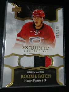 2017-18 Exquisite Collection Haydn Fleury Rookie 3-Clr Patch #/299