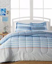 Azores 3 Piece Full Queen Comforter Set Blue Ellison First Asia Msrp $80 B218