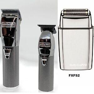 BaByliss PRO Silver FX Clipper & Skeleton Outliner Cordless Trimmer & Foil 02