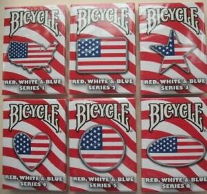 Rare Bicycle Playing Cards Red, White & Blue Deck, You Choose: Series 1-6