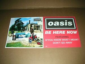OASIS Be Here Now 2 Sided Promo 12x12 Poster Flat 1997 Mint-