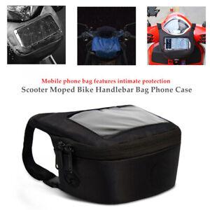 Motorcycle Scooter Moped Handlebar Bag Phone Case Waist Pocket Saddle Bag Kit