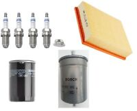 Service Kit Fits Audi A4 8D2 8D5 B5 1.8 T Bosch Air Oil Fuel Filter Spark Plugs